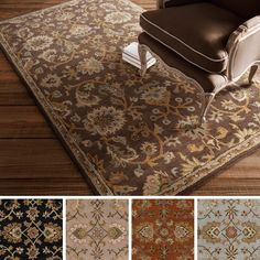 Showcasing a oriental floral design, this wool rug will bring traditional detail to any space. This Indo rug comes in black, tan, brown, camel and blue options to pair perfectly with any setting.