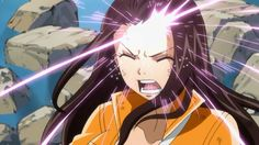 Runes being written on Cana's forehead. Freed's attack in Battle of Fairy Tail!