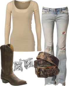 Cowboy boats outfit with jeans casual country fall Ideas Conjunto de botes de vaquero con jeans casual country fall Ideas Country Girls Outfits, Country Girl Style, Country Fashion, Western Outfits, Western Wear, Country Fall, Country Casual, Country Chic, Redneck Girl Outfits