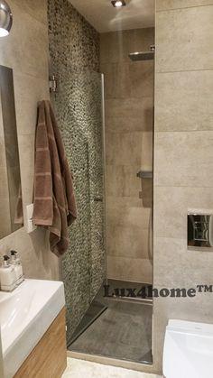 Otoczaki pod prysznicem. Kolekcja Sumba Speckle od Lux4home™ I klasa otoczaków...