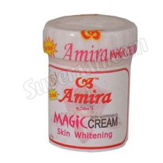 AMIRA MAGIC CREAM is a complex topical formulation for the skin. It lightens dark skin blemishes, freckles, discoloration, stretch marks and scars. It can be used as a moisturizer too for the whole body. In a number of cases, it is used to remove pimples. It is uniquely designed for dark under-arms, elbows and inguinal areas. It is also an effective deodorant and sunscreen, COD - Ph :09885401166