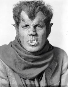 Fact The makeup used on Lon Chaney Jr.'s Wolf Man was originally created by Jack Pierce for Henry Hull in Werewolf of London However, Hull did not want to wear this makeup because it was too time consuming, so Pierce created a less hairy. Classic Monster Movies, Classic Horror Movies, Classic Monsters, Horror Films, Horror Art, Horror Icons, Gothic Horror, Cool Monsters, Famous Monsters