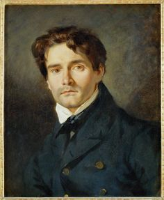 Ferdinand Victor Eugene Delacroix, Portrait Of Leon Riesener, 1835