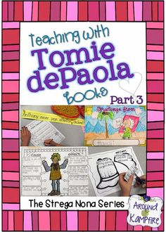 This teacher shares lots of creative ideas and activities for teaching reading comprehension, story structure, and forming analogies as well as ideas for anchor charts when teaching with The Strega Nona series Tomie dePaola | Around the Kampfire blog