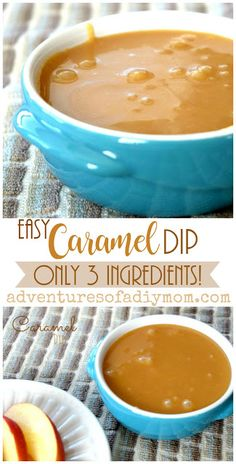 Easy Caramel Dip Recipe- only three ingredients! Sweet, chewy, soft, rich caramel perfect for dipping. This caramel dip recipe is super easy with only three ingredients! - Easy Caramel Dip Recipe- only three ingredients! Fondue Recipes, Dip Recipes, Apple Recipes, Fall Recipes, Baking Recipes, Crockpot Recipes, Microwave Recipes, Candy Recipes, Sauce Recipes