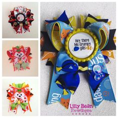 Half stacked bow custom by LillyBeanBowtique on Etsy