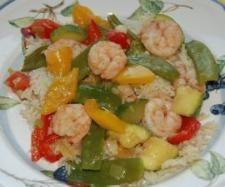 Rezept Chinesisches All-In-Menue Garnelen mit Gemüse und Reis, low fat von MuckTm31 - Rezept der Kategorie Hauptgerichte mit Fisch & Meeresfrüchten