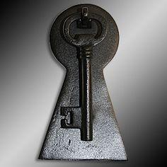 Door Knockers Black Cast Iron, Iron Door Knocker Key Black 6 H X 3 1