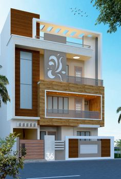 Modern House Design Whether you are searching for a single-storey or double-storey design, you will be certain to locate your perfect home amongst our great Indian House Exterior Design, Modern Exterior House Designs, Modern Small House Design, Modern House Facades, Indian House Designs, Exterior Wall Design, Bungalow Exterior, Interior Design, House Outer Design