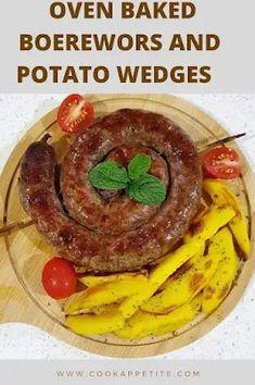 Boerewors and baked potato wedges