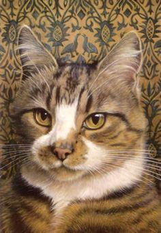 lesley anne ivory cats | 560-005 Lesley Anne Ivory Cats 4 x 6 postcard