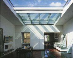 Retractable skylights, rooflight
