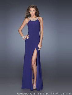 Sheath/Column Scoop Rhinestone Evening Dress