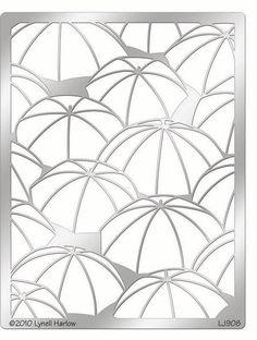 Umbrella Background Stencil
