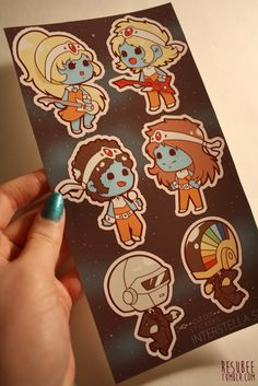 interstella 5555 daft punk sticker sheet by resubee on Etsy
