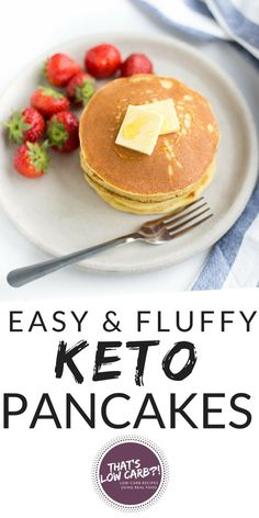 The Best Keto Pancakes recipe that has ever been made in our household! Made with just this keto pancake mix is so easy to whip together with almond flour. Sunday morning pancakes will become a normal here on out. Best Keto Pancakes, Low Carb Pancakes, Oatmeal Pancakes, Pancakes Easy, Gourmet Recipes, Low Carb Recipes, Real Food Recipes, Dessert Recipes, Juice Recipes