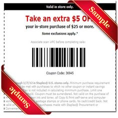 Printable Staples Coupon June 2015