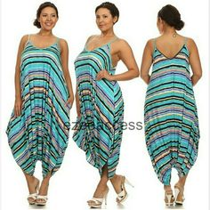 """Plus size harem loose oversized romper jumpsuit Brand new without tags. color may vary brighter / lighter than the actual product, KINDLY CHECK MEASUREMENTS. stripe print (1X, 2X, 3X)  to choose from Nice weight fabric not thin one. Perfect for fall. Boho chic trendy. Oversized Loose fit drape harem Romper jumpsuit. PIT TO PIT : 1X  : 23: 2X : 24"""" 3X : 25"""" Boutique  Pants Jumpsuits & Rompers"""