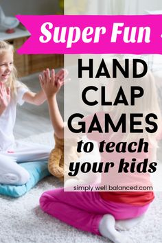 The absolute best list of hand clapping games for kids. Full of fun hand clap games, songs and rhymes perfect for brain breaks, ice breakers or just for fun. Links to videos with lyrics and movements included. Toddler Fun, Learning Activities, Preschool Activities, Indoor Activities, Toddler Chores, Toddler Games, Teaching Kids, Kids Learning, Hand Clapping Games