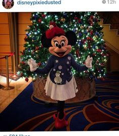 Disney at Christmas Disney Now, Disney Cruise Line, Disney Parks, Disney Pixar, Disney Characters, Mickey Christmas, Very Merry Christmas, Christmas Time, Minnie Mouse Costume