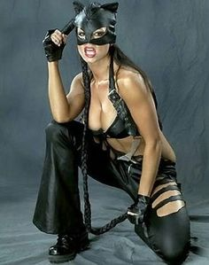 Candice Michelle as Catwoman. Okay I know it's the Hallie Berry Catwoman but still.....