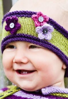 headband and flowers knit pattern {can be made any size}