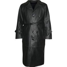 Rocky Mountain Hides Solid Buffalo Leather Trench Coat