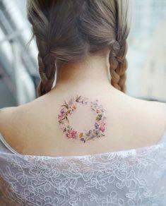 A floral wreath by Banul Design Model, Tattoos For Women, Cool Tattoos, Tattoo Designs, Floral Wreath, Woman Tattoos, Floral Crown, Coolest Tattoo, Tatto Designs