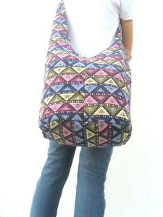Shoulder Bag Sling Thai Hippie Hobo Nepal Multicolor Bag Hobo Crossbody Bag Boho Bohemian Bag Purse Multi Color Messenger Sling Gift Bag by Avivahandmade on Etsy