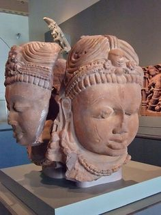 Multi-faced linga from Hindu Temple 900-1000 CE India |