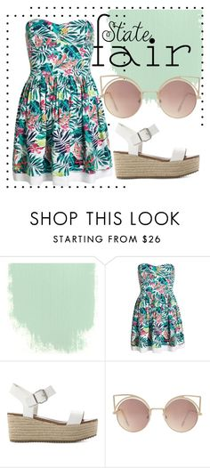 """""""summer"""" by alinka-titova ❤ liked on Polyvore featuring Superdry, Steve Madden, MANGO, statefair and summerdate"""
