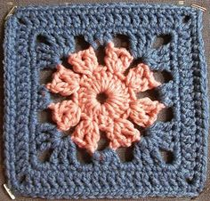 Transcendent Crochet a Solid Granny Square Ideas. Inconceivable Crochet a Solid Granny Square Ideas. Motifs Granny Square, Crochet Motifs, Granny Square Blanket, Crochet Blocks, Granny Square Crochet Pattern, Crochet Borders, Crochet Squares, Crochet Blanket Patterns, Crochet Stitches