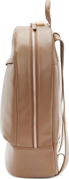 Want Les Essentiels De La Vie: Mocha Leather Piper Backpack