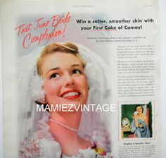 Pin Up  Bride Camay Soap Magazine by mamiezvintage on Etsy, $12.00