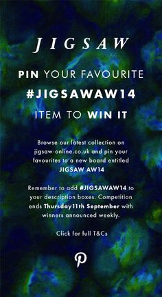 Pin your favourite item to win it: www. Jigsaw Online, British Store, Jigsaw Clothing, Competitions Uk, All I Want, Marketing Ideas