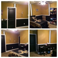 Previous pinner:  Final product-New Orleans Saints Bedroom.