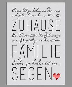 """Smart Art ★ Kunstdruck """"Familie ist ein Segen"""":"""