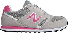 Deportivas New Balance gris-rosa Stileo