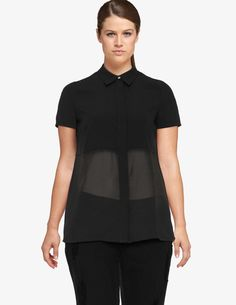 Manon Baptiste Sheer blouse in Black