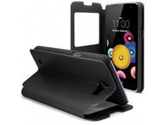 Coque Etui LG K4 Flip Folio - Window View - Noir - 8,90 €