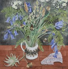Watercolor Artwork, Watercolour, Lino Print Artists, Angie Lewin, Sense Of Place, Natural Forms, Spring Flowers, Printmaking