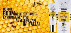 Dopo il Boom negli Stati Uniti la prima linea viso anti-age al veleno d'Ape in Italia!