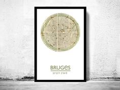 BRUGES  city poster  city map poster print by ALLCITYPOSTERS