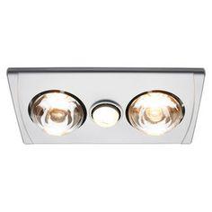 GAF 3in1 Bathroom Exhaust Fan Silver RBH2ALEX-S www.masters.com.au  $39