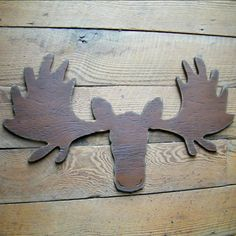 moose head cut out. Cute for a nursery.