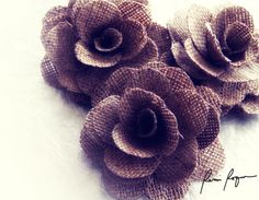 Burlap Craft Projects | WHOLESALE Burlap Roses for Weddings & Other Craft Projects