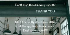 Get the app for a free chance to win for your charity!