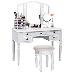 SONGMICS Vanity Set Tri-folding Mirror Make-up Dressing T... https://www.amazon.com/dp/B01MSY83L7/ref=cm_sw_r_pi_dp_x_K-bzzb16TRWE3