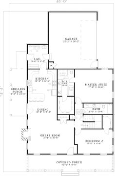 The Berryville Country Home has 2 bedrooms and 2 full baths. See amenities for Plan 055D-0636.