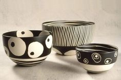 home decor ceramic bowls by Esgrafiado Pottery Painting, Ceramic Painting, Ceramic Artists, Pottery Bowls, Ceramic Pottery, Pottery Art, Sgraffito, Ceramic Clay, Ceramic Bowls